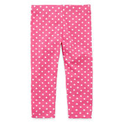 Okie Dokie® Knit Leggings - Girls newborn-24m