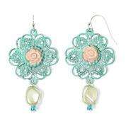 Aris by Treska Flower Bead Drop Earrings