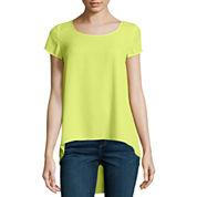 Decree® Short-Sleeve Pintuck-Back T-Shirt