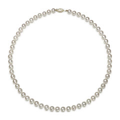 Genuine Akoya Pearl 14K Yellow Gold 18