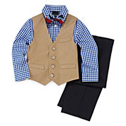 4-pc. Twill Vest Set - Toddler Boys 2t-5t