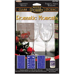 Rub 'n' Etch Romantic Moments Glass Etching Stencils