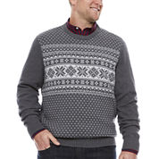 Dockers Long Sleeve Holiday Sweater- Big & Tall