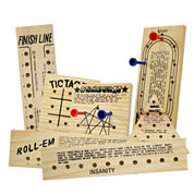 Totes 7 Piece Wooden Game Set