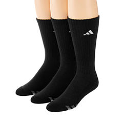 adidas® 3-pk. Athletic Cushioned Crew Socks - Big & Tall