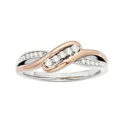 1/8 CT. T.W. Diamond Two-Tone Promise Ring