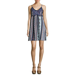 My Michelle Sleeveless Slip Dress-Juniors