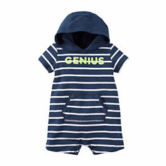 Carter's Short-Sleeve Hooded Jumpsuit - Baby