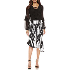 Bisou Bisou Ruffle Lace Up Top or Seamed Assymetrical Skirt