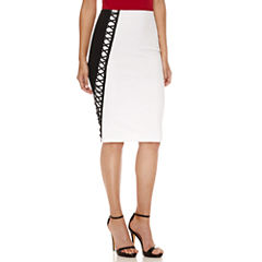 Bisou Bisou Color Block Pencil Skirt