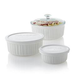 CorningWare® French White® 6-pc. Bakeware Set