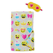 Convertible Blanket Bag W/Eyemask - Emoj