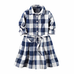 Carter's Long Sleeve A-Line Dress - Toddler Girls