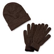 St. John`s Bay Beanie and Glove Set