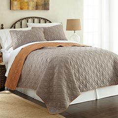 Pacific Coast Textiles Lattice 3-pc Coverlet Set