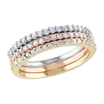 Womens 45mm 58 Ct Tw Genuine White Diamond 18k Gold Over Silver Band