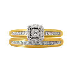 1/5 CT. T.W. Diamond Bridal Ring Set