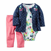 Carter's Girls 3pc Cardigan Set