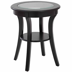 Harper Round Accent Table with Glass Top