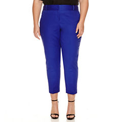 Worthington® Curvy Slim Leg Ankle Pants - Plus