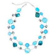 Mixit™ Silver-Tone Blue Illusion Necklace