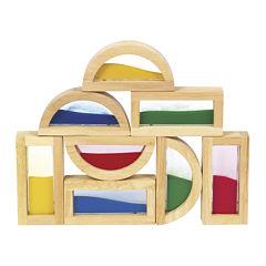 Guidecraft 8-pc. Rainbow Sand Building Blocks Set