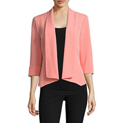 Black Label by Evan-Picone 3/4 Sleeve Open Front Jacket