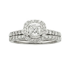 Certified Diamonds 1 CT. T.W. Diamond 14K White Gold Bridal Set