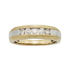 Mens 1 /2 CT. T.W. Certified Diamond 14K Two-Tone Gold Band