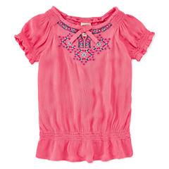 Arizona Short Sleeve Peasant Top- Toddler