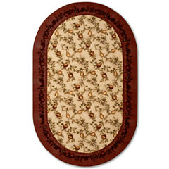 Elegant Fruit Washable Oval Rug