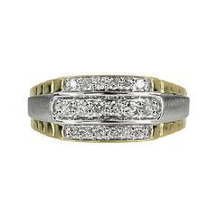 Mens 1/2 CT. T.W. Diamond 10K Yellow Gold Ring