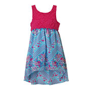 Lilt Floral Chiffon High-Low Sundress - Toddler Girls 2t-4t