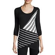 Alyx® Long-Sleeve Asymmetric Stripe Knit Top