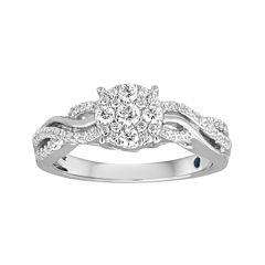 I Said Yes™ 3/8 CT. T.W. Diamond Halo Engagement Ring