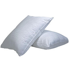 DownLinens Plush Perfect Down-Alternative Overstuffed Firm 2-Pack Pillows