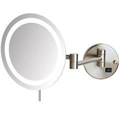 Sharper Image® 8X LED Wall-Mount Makeup Mirror