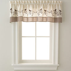 Birds Rod-Pocket Tailored Valance