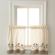 Birds Rod-Pocket Window Tiers