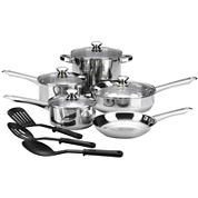Cooks 12-pc. Essential Stainless Steel Cookware Set