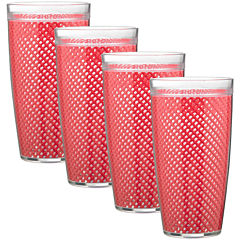 Kraftware Fishnet Set of 4 24-oz. Doublewalled Glasses