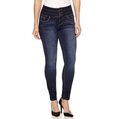 Bisou Bisou Triple Stack Zip Front Skinny Jeans