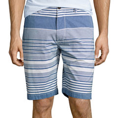 "Arizona Stripe 10¼"" Inseam Flat-Front Shorts"