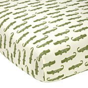 NoJo® Alligator Blues Fitted Crib Sheet