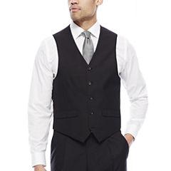 Steve Harvey® Black Herringbone Suit Vest