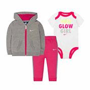 Nike 3-pc. Long Sleeve Pant Set
