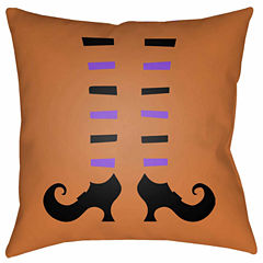 Decor 140 Witch Stockings Square Throw Pillow