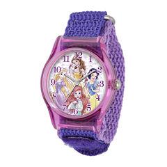 Disney Princess Kids Purple Nylon Strap Watch