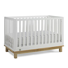 Fisher-Price Riley Island White-and-Natural -Wood Crib