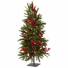 Nearly Natural 36in Pine And Berry Christmas Tree